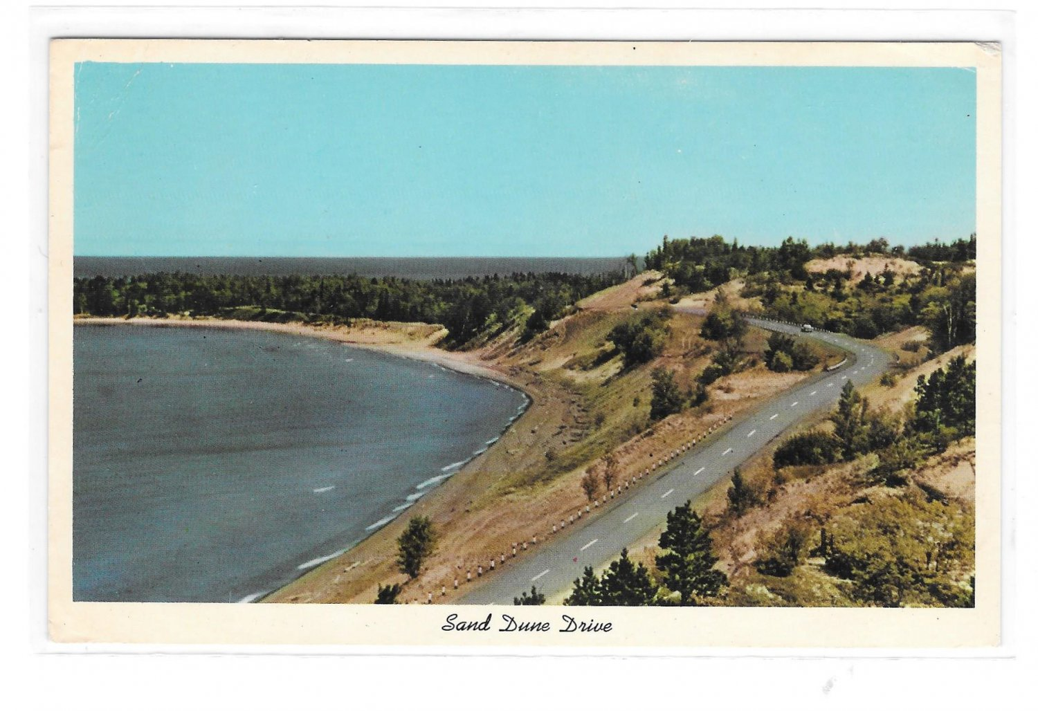 Sand Dune Drive Eagle River and Eagle Harbor Michigan Copper Country Keweenawland Postcard
