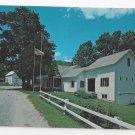 VT Plymouth Notch President Coolidge Homestead Vintage Chrome Postcard