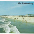 NJ Wildwood Crest Beach by the Sea from Fishing Pier Vintage Postcard