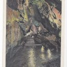 Kutztown PA Crystal Cave Steps Down to Stream in Underground Cavern Vntg Postcard