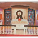 Germantown PA Trinity Church Altar Crowther Memorial Windows Chancel Vtg Postcard
