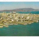 CA San Francisco Oakland Bay Bridge Aerial View Embarcadero Piers Alcatraz Vntg Postcard