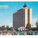 NV Las Vegas Sahara Casino Hotel Swimming Pool Vintage 60s Nevada Postcard