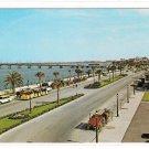 St Augustine Florda Matanzas Bay Front Bridge of Lions Cars Vintage FL Postcard
