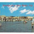Stone Harbor New Jersey Municipal Marina Boats Vintage Al Orsini Photo NJ Postcard