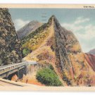 HI Nuuanu Pali Road to Cliff Honolulu Hawaii Vintage Linen Postcard Posted 1937