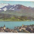 Switzerland Luzern Lucerne mit Rigi Suisse Alpen Vtg E Goetz Postcard c 1910