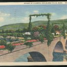 MA Shelburne Falls Bridge of Flowers Vtg Curteich Linen Postcard 1935