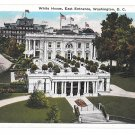 Washington DC US Capitol White House East Entrance Vtg B S Reynolds Postcard 1932