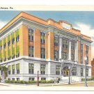 PA Altoona Pennsylvania City Hall Tichnor Vintage Linen Postcard