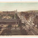 UK Scotland Edinburgh Princes Street Looking West Traffic Buses Photochrom Vintage Postcard