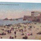 CA San Francisco Cliff House and Beach Vintage PNC California Postcard