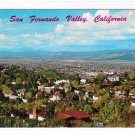 CA San Fernando Vallery California Aerial View rom Hollywood Hills Vintage Postcard
