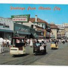Greetings from Atlantic City NJ Boardwalk Rolling Chairs Stores Vintage Jim Waters Postcard