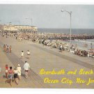 Ocean City NJ Birds Eye View Looking North Boardwalk Beach Music Pier Jetty Vintage Postcard