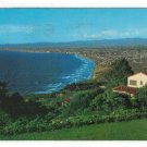 CA Los Angeles County Coastline View From Palos Verdes Estates San Pedro Hills Postcard
