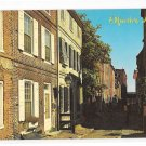 PA Philadelphia Historic Elfreths Allley Vintage Wm C Kramer Postcard