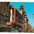 San Francisco CA Chinatown Grant Avenue Stores The Gray Line Vntg California Postcard