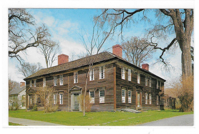 Deerfield MA Frary House Massachusetts Historic Home Vintage Mike RobertsPostcard