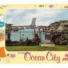 Greetings from Ocean City NJ View of Drawbridge Vintage Illustrated New Jersey Postcard