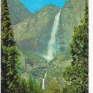 Yosemite Falls Yosemite National Park CA Vintage Waterfall 1950s Postcard