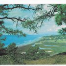 Torrey Pines Southern California Ocean Coastal View Merle Porter Photo Vintage postcard
