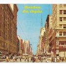 CA Downtown Lost Angeles Broadway Street Scene Signs Pedestrians Vintage Postcard