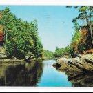 The Narrows Upper Dells Wisconsin River Vintage 1960  HH Bennett Postcard