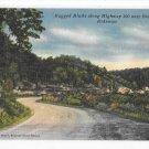 Arkansas Highway Route 100 Bella Vista  Rugged Bluffs Vintage 50s AR Postcard