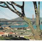 San Francisco CA Presidio Barrack Area Golden Gate Bridge Bay Vintage Postcard