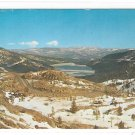 CA US Highway 40 Donner Pass Summit Sierra Nevada Mts California Vintage Postcard