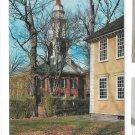 MA Deerfield The Brick Church and Old Manse Vintage Massachusetts Chrome Postcard