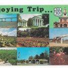 Enjoying Trip US HIghway 301 and interstate Rte I-95 Multiview Vintage Postcard