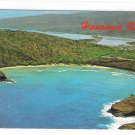 Hawai Aerial View Hanauma Bay Honolulu Nature Preserve Oahu Vintage Postcard