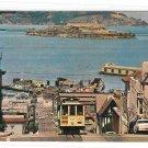 CA San Francisco Cable Car Hyde St Bay Alcatraz Vintg Postcard Atkinson Photographer