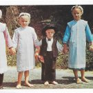 Lancaster County PA Amish Children Traditional Sunday Dress Vintage James Hess Postcard