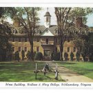 William and Mary College Williamsburg VA Wren Building Vintage Postcard