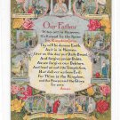 Lords Prayer Our Father Vintage Illustrated Christian Religious  Postcard
