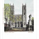 Canada Montreal Eglise de Notre Dame Church Cathedral Private Post Card