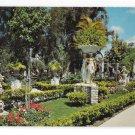 Clearwater FL Kapok Tree Inn East Garden Three Graces Statue Vintage Florida Postcard