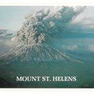 WA Mount St Helens Erupting Active Volcano Washington Ted Leonard Photo Vntg 4X6 Postcard