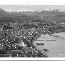 Austria Bregenz am Bodensee Birds Eye View Real Photo Risch-Lau Posted 1947 Postcard
