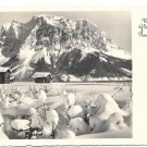 Neuen Jahr German Real Photo New Years Postcard RPPC Snowy Mountain Cabins