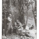 The Wolf and The Lamb D Mastroianni Signed Sculptogravure Vntg A Noyer 1912 Postcard