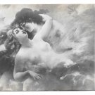 Dans Les Nuages Lovers In The Clouds Adolphe La Lyre Artist ND Photo Neurdein Postcard