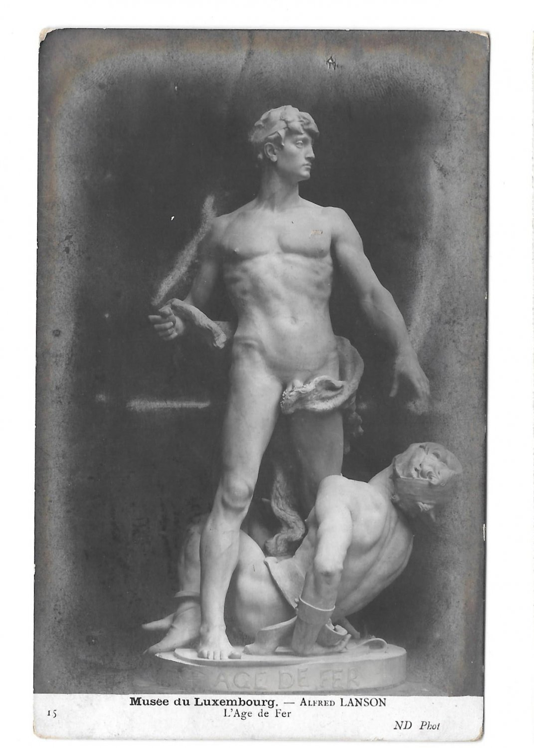RPPC L'Age de Fer The Iron Age Sculpture Alfred Lanson Erotic Nudes ND Real Photo Postcard