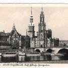 Germany RPPC Dresden Friedrich August Bridge Elbe River Boats Postcard