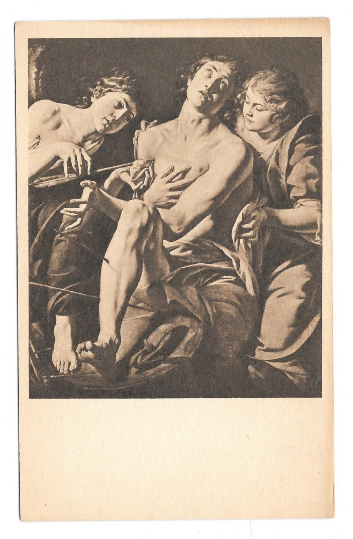 Painting St Sebastian Artist Tanzio Da Varallo National Gallery of Art DC Postcard