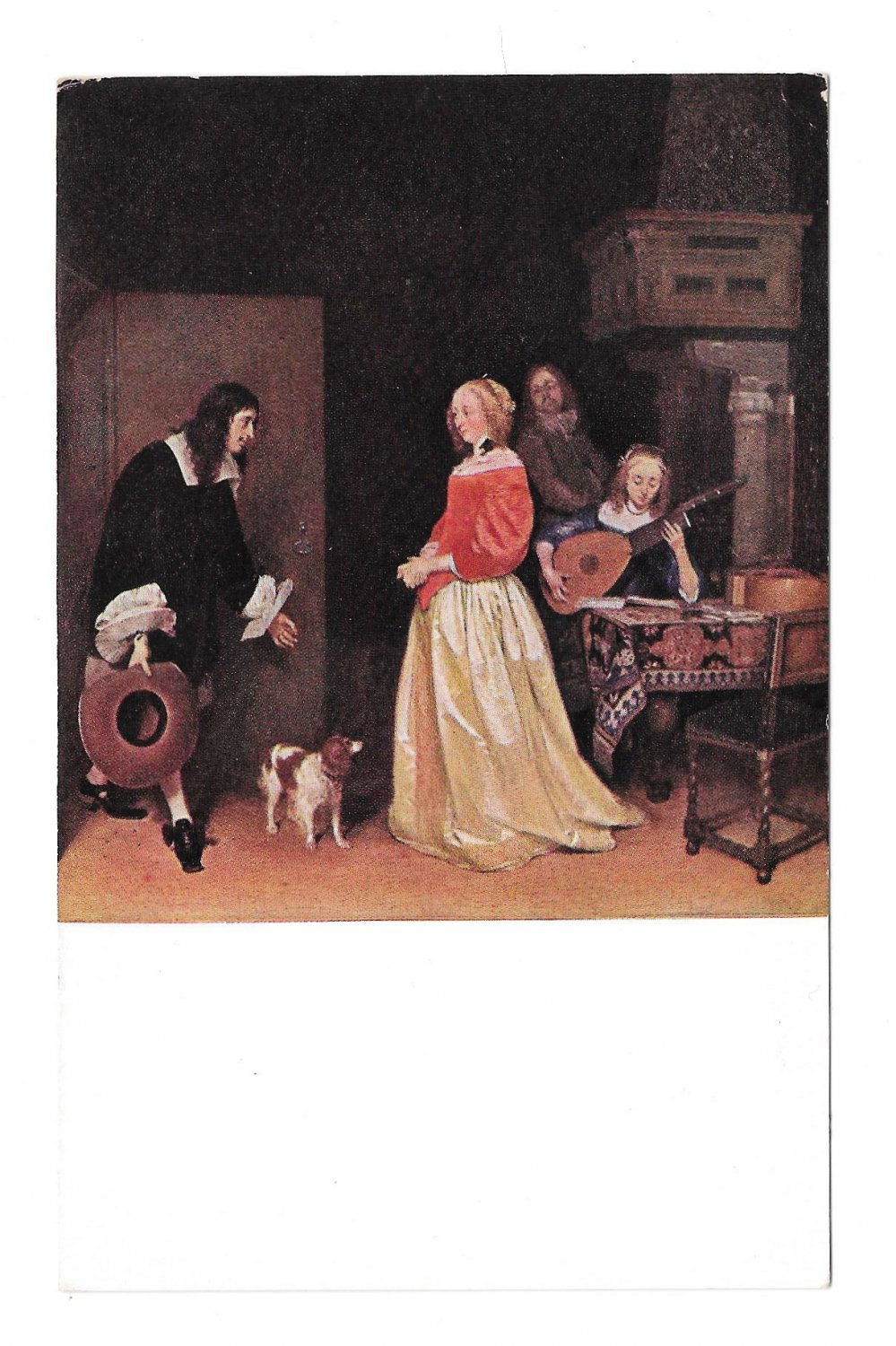The Suitors Visit Artist Ter Borch National Gallery of Art Washington DC Painting Postcard