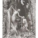 Mastroianni Sculptogravure Love Fever Fievre D'Amour Liebes Durst A Noyer 1912 Art Postcard